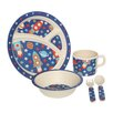 Wildon Home Kids Space Dinner Bamboo Fibre 5 Piece Place Setting