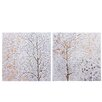 Wildon Home Tree 2 Piece Art Print on Canvas Set