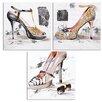 Wildon Home Shoe 3 Piece Art Print on Canvas Set