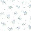 "Norwall Wallcoverings Inc Pretty Prints IV 32.7' x 20.5"" Rainbow Floral Wallpaper"