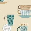 "Norwall Wallcoverings Inc Fresh Kitchens V 32.7' x 20.5"" Coffee Time Wallpaper"
