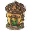 Fairy Village House Statue - Color: Acorn - HearthSong Garden Statues and Outdoor Accents
