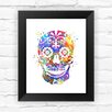 Dignovel Studios Sugar Skull Day of the Dead Contemporary Watercolor Framed Graphic Art