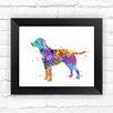 Dignovel Studios Labrador Dog Contemporary Watercolor Framed Graphic Art