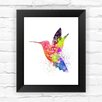 Dignovel Studios Hummingbird Watercolor Framed Graphic Art