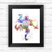 Dignovel Studios Skull Kid Majoras Mask Inspired Legend of Zelda Contemporary Watercolor Framed Graphic Art