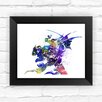 Dignovel Studios Final Fantasy VI Inspired Contemporary Watercolor Framed Graphic Art
