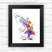 Dignovel Studios Pixie Hollow Fairy Contemporary Watercolor Framed Graphic Art