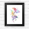 Dignovel Studios Flower Contemporary Watercolor Framed Graphic Art