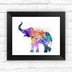 Dignovel Studios Baby Eephant Watercolor Framed Graphic Art