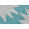Kroma Carpets Hand Tufted Aqua Area Rug