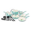 GreenLife Soft Grip 14-Piece Non-Stick Cookware Set
