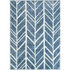 The Conestoga Trading Co. Indian Hand-Tufted Blue/Ivory Area Rug