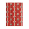 The Conestoga Trading Co. Benedict Hand-Tufted Red/Gray Area Rug