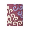 The Conestoga Trading Co. Shaniko Hand-Tufted Purple/Ivory Area Rug