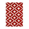 The Conestoga Trading Co. Herjulfsson Hand-Tufted Tomato Area Rug