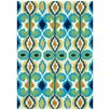 The Conestoga Trading Co. Hand-Woven Ivory/Blue Indoor/Outdoor Area Rug