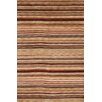 Meridian Rugmakers Sines Hand-Knotted Brown Area Rug