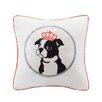 HipStyle Braxton Dog Appliqued Cotton Throw Pillow