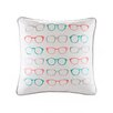 HipStyle Specs Glasses Embroidered Cotton Throw Pillow