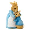 Beatrix Potter Mrs Rabbit and Peter Figure