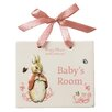 Beatrix Potter Flopsy Door Plaque