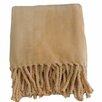 Anna Ricci Soft Fringe Throw Blanket