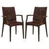 LeisureMod Mace Arm Chair (Set of 2)