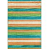 Threadbind Lindsay Orange/Blue Indoor/Outdoor Area Rug