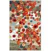Latitude Run Burwood Tossed Floral Multi Printed Area Rug