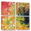 Latitude Run Vacation 4 Piece Painting Print on Wrapped Canvas Set