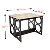 Latitude Run Maura Counter Height Console/ Dining Table in Faux Marble