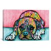 Latitude Run Lying Boxer Graphic Art on Wrapped Canvas