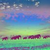 Salty & Sweet Painted Elephants Graphic Art on Canvas