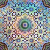 Salty & Sweet Leinwandbild Geblümtes Mosaik, Grafikdruck