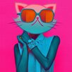 Salty & Sweet Kool Kitty Graphic Art on Canvas