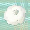 Salty & Sweet Powder Flower Graphic Art on Canvas in White