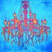 Salty & Sweet Leinwandbild Tropischer Kronleuchter, Grafikdruck