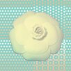 Salty & Sweet Powder Flower Graphic Art on Canvas in Green