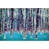 Salty & Sweet Leinwandbild Lucid Birch, Grafikdruck