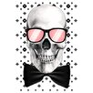 Salty & Sweet Mr. Bonehead Chic Graphic Art on Canvas