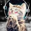 Salty & Sweet Space Kitty Graphic Art on Canvas