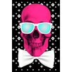 Salty & Sweet Leinwandbild Mr. Bonehead, Grafikdruck in Rosa