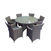 LG Outdoor Saigon Rustic 6 Seater Dining Set