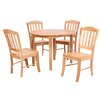 Three Posts Manheim Extendable Dining Table and 4 Chairs