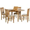 Three Posts Lincklaen Extendable Dining Table and 4 Chairs