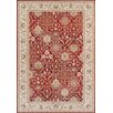Three Posts Moira Red / Cream Area Rug