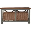 Three Posts Stansbury Wood Storage Entryway Bench