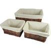 Three Posts Pine Brook 3 Piece Basket Set