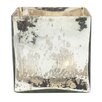 Serene Spaces Living Mercury Glass Cube Vase